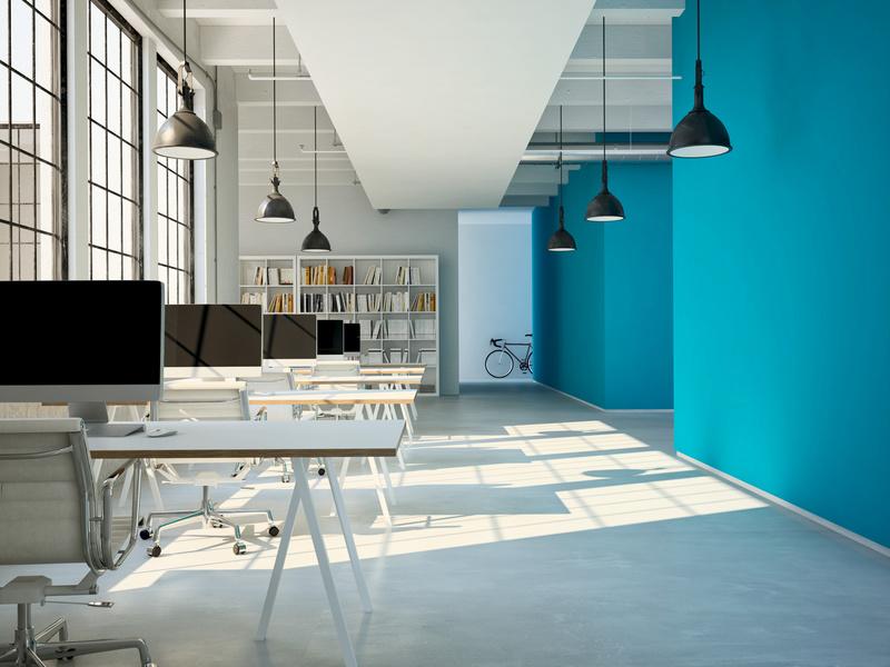 couleurs bureau travail